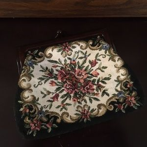 Vintage Tapestry Change Purse